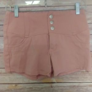 Cisono button up shorts rose color size small